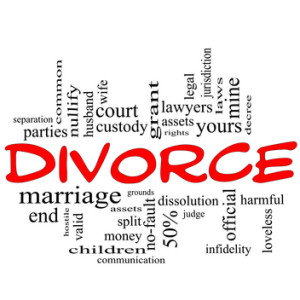 divorce word cluster